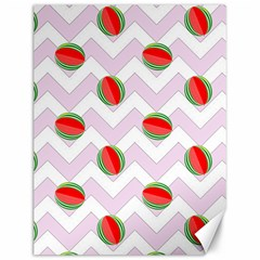 Watermelon Chevron Canvas 12  x 16