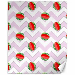 Watermelon Chevron Canvas 16  x 20