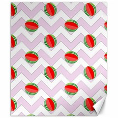 Watermelon Chevron Canvas 20  x 24