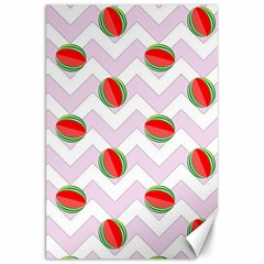 Watermelon Chevron Canvas 20  X 30   by snowwhitegirl