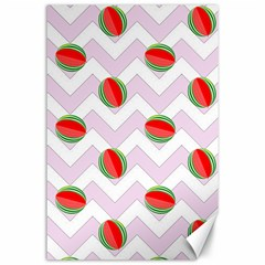 Watermelon Chevron Canvas 24  x 36