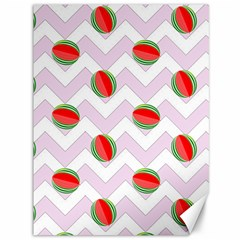 Watermelon Chevron Canvas 36  X 48   by snowwhitegirl