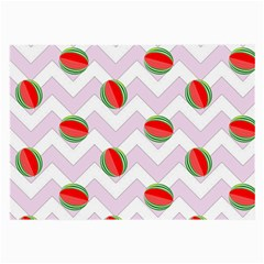 Watermelon Chevron Large Glasses Cloth (2 Side) by snowwhitegirl