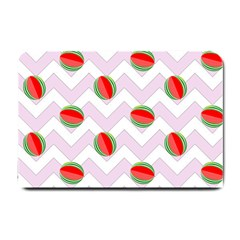 Watermelon Chevron Small Doormat