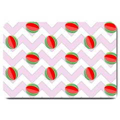 Watermelon Chevron Large Doormat