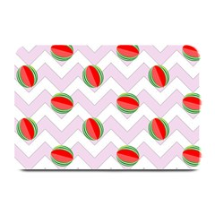 Watermelon Chevron Plate Mats