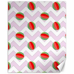 Watermelon Chevron Canvas 11  x 14
