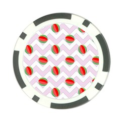 Watermelon Chevron Poker Chip Card Guard