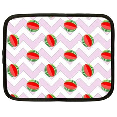 Watermelon Chevron Netbook Case (Large)