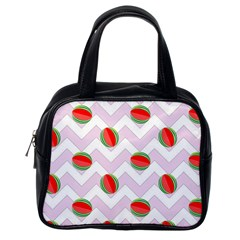 Watermelon Chevron Classic Handbag (One Side)