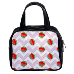 Watermelon Chevron Classic Handbag (Two Sides)