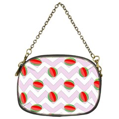 Watermelon Chevron Chain Purse (One Side)