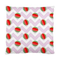 Watermelon Chevron Standard Cushion Case (One Side)