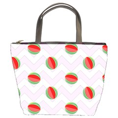 Watermelon Chevron Bucket Bag