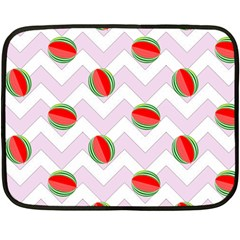 Watermelon Chevron Fleece Blanket (Mini)