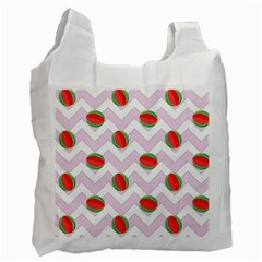 Watermelon Chevron Recycle Bag (One Side)