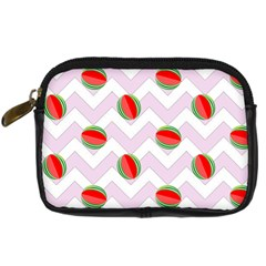 Watermelon Chevron Digital Camera Leather Case