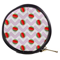 Watermelon Chevron Mini Makeup Bags