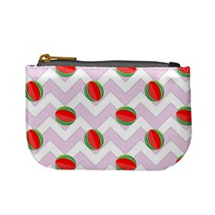 Watermelon Chevron Mini Coin Purse