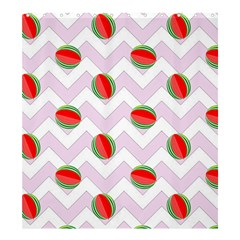 Watermelon Chevron Shower Curtain 66  x 72  (Large)