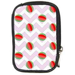 Watermelon Chevron Compact Camera Leather Case