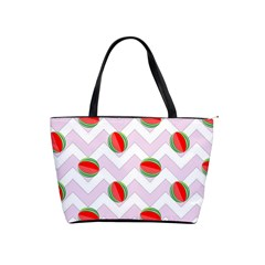 Watermelon Chevron Classic Shoulder Handbag