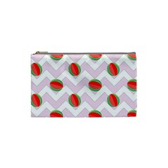 Watermelon Chevron Cosmetic Bag (Small)