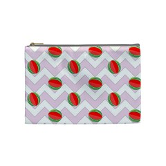 Watermelon Chevron Cosmetic Bag (Medium)