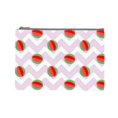 Watermelon Chevron Cosmetic Bag (Large)