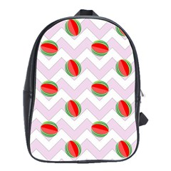 Watermelon Chevron School Bag (Large)
