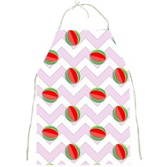 Watermelon Chevron Full Print Aprons