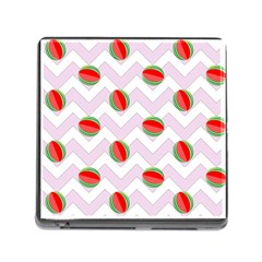 Watermelon Chevron Memory Card Reader (Square 5 Slot)