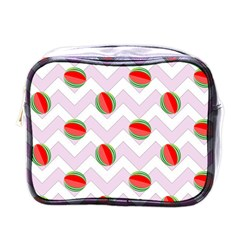 Watermelon Chevron Mini Toiletries Bag (One Side)