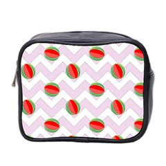 Watermelon Chevron Mini Toiletries Bag (Two Sides)