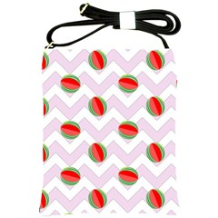 Watermelon Chevron Shoulder Sling Bag
