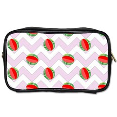 Watermelon Chevron Toiletries Bag (Two Sides)