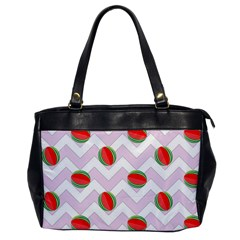 Watermelon Chevron Oversize Office Handbag