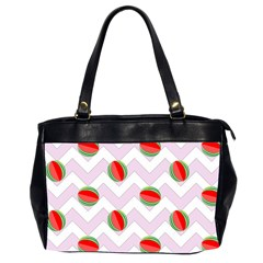 Watermelon Chevron Oversize Office Handbag (2 Sides)