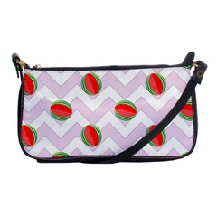 Watermelon Chevron Shoulder Clutch Bag