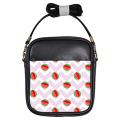 Watermelon Chevron Girls Sling Bag