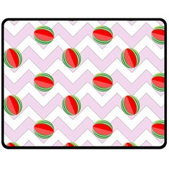 Watermelon Chevron Fleece Blanket (Medium)