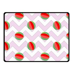 Watermelon Chevron Fleece Blanket (Small)