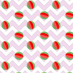 Watermelon Chevron Magic Photo Cube