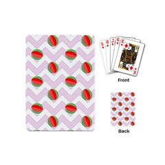 Watermelon Chevron Playing Cards (Mini)