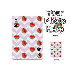 Watermelon Chevron Playing Cards 54 (Mini)