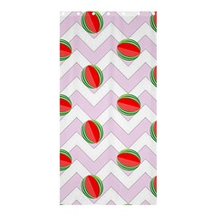 Watermelon Chevron Shower Curtain 36  x 72  (Stall)