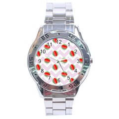 Watermelon Chevron Stainless Steel Analogue Watch