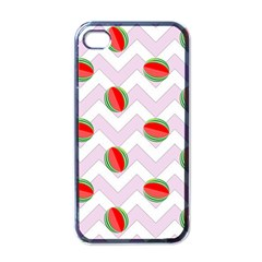 Watermelon Chevron Apple iPhone 4 Case (Black)