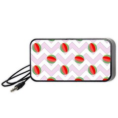 Watermelon Chevron Portable Speaker
