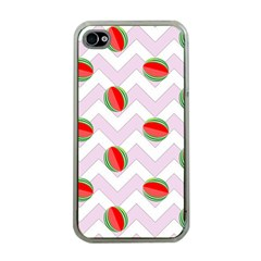 Watermelon Chevron Apple iPhone 4 Case (Clear)
